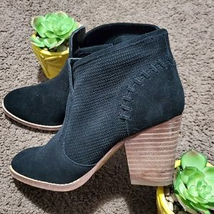 Marc Fisher Suede Zip Ankle Booties Boots